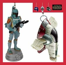 STAR WARS BOBA FETT FIGURE & HIS SPACE SHIP SLAVE I CEILING FAN PULLS - NEW ITEM
