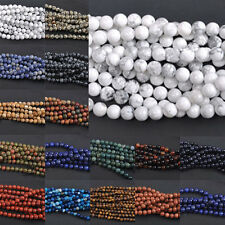 Wholesale 4mm 6mm 8mm 10mm 12mm Gemstone Bead Strand Round Spacer Loose