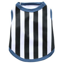 Small Pet Clothes Vertical stripes Summer Polyester Sleeveless T-Shirt Dog Vest