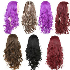 Ladies 3/4 WIG Fall Clip In Hair Piece Half Wavy Free Shipping SY