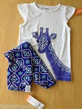 NWT Gymboree Batik Giraffe Tee Leggings Sparkle Safari  Set Girls 6