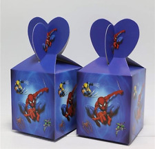 NEW Pack of 6 Spiderman Themed Party Lolly/Candy Loot Boxes Favours