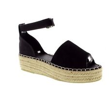 Superdry Anna Flatform Espadrille - Black (Blue) Womens Sandals