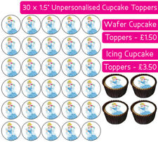 30 CINDERELLA EDIBLE WAFER & ICING CUPCAKES TOPPERS BIRTHDAY PARTY PRINCESS