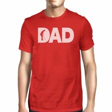 Dad Golf Mens Red Cotton Graphic Tee Unique Design T-Shirt For Dad