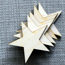 Wooden Star Shapes, Blank Craft Shapes, Wooden stars, Laser cut shapes