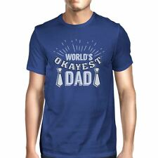 Worlds Okayest Dad Mens Vintage T-Shirt Fathers Day Gift For Him