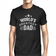 Worlds Greatest Dad Mens Black Graphic T-Shirt Gift For Fathers Day