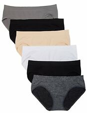 6 Pack Kalon Women's Hipster Brief Nylon Spandex Underwear