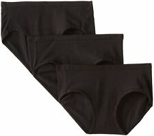 Hanes Women's Ultimate Cotton Stretch Hipster Panties Black (Pack of 3)
