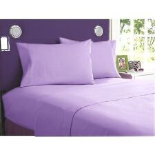 LAVENDER SOLID 1000TC EGYPTIAN COTTON BEDDING ITEM SHEET/DUVETS/FITTED ALL SIZES