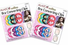 ALAZCO Colorful Bra Strap Clips Conceal Straps Create Cleavage Add Full Cup Size