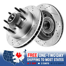 Front Drilled Slotted Brake Rotors GMC Chevy C2500 C3500 Express Suburban 8Lug
