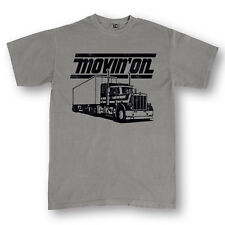 Movin' On Retro Saying Trucker Truck Driver Semi Party Mens Pigment Dyed T-Shirt