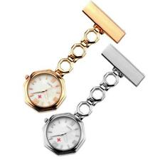 Metal Nurse Fob Watch Clip On Hanging Brooch Pocket Quartz With Chain Watches