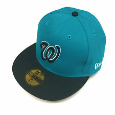 7 1/2 SIZE New Era Washington Nationals Cap Teal Blue Custom 59FIFTY Fitted Hat