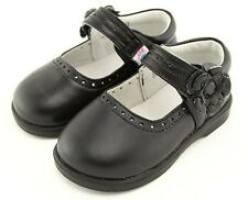 "Freycoo ""Willow"" Black Leather Shoes Girls Mary Janes"