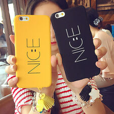 Cute Smooth Nice Smile Face Star Tassel Hard Case Cover For iPhone 7 7 Plus 6 6S
