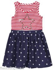 NWT Gymboree RED WHITE CUTE July 4th Striped Stars Dress 6 7 8 10 12 Girls