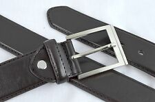 Belt ITALY STYLE Wide Stiff Leather Brown Stitching M34-36 L38-40 XL42-44 Men 01