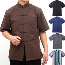 Retro Mens Striped Chinese Style Traditional Coat Men's Kung Fu Jacket Outerwear