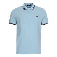 New Mens Fred Perry  Twin Tipped Polo Shirt - Blue   Short sleeve  Collared