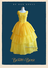 Adult Beauty and the Beast Belle Yellow Dress Wedding Gown Halloween Costume
