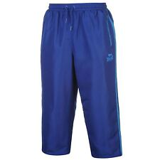 MENS BLUE LONSDALE BOXING GYM 3/4 THREE QUARTER WOVEN BOTTOMS TROUSERS SHORTS