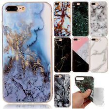 For iPhone 6s 7 7 Plus Ultra Slim Marble Pattern Rubber Soft TPU Back Case Cover