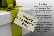 A4 PERSONALISED FATHERS DAY POEM