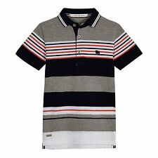 J By Jasper Conran Kids Boys' Grey Pique Stripe Polo Shirt From Debenhams
