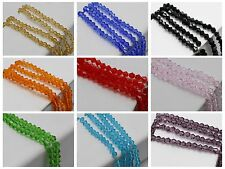 120pcs 4mm Bicone bead Faceted Crystal Glass Beads Color For Choice