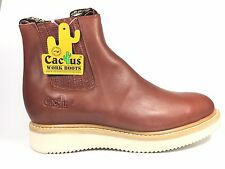 Cactus Work Boots 7611 Shedron Pull On 100% REAL LEATHER MADE IN MEXICO New