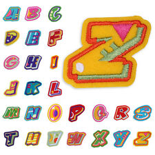 Fashion Embroidered Letter A-Z Applique Iron On Patch Motif DIY Sew English Word
