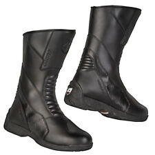 Akito Monza Urban Leather Waterproof Motorbike Motorcycle Boots Black UK3-UK13