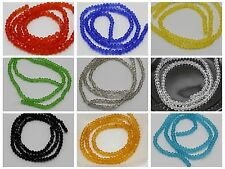 150 Pcs Faceted Rondelle Bead Crystal Glass Beads 2X3mm Color for Choice