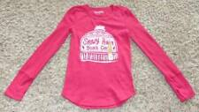 NWT-Girls Mudd Red Long Sleeve Snowy Hair Dont Care Thermal Shirt-10, 12, 14, 16