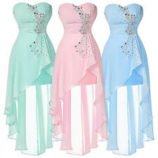 Teens Short MINI Bridesmaid Formal Chiffon Cocktail Prom Party Gown Dress ❋❋