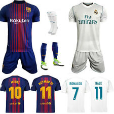 Newest 2018 Jersey Kit Football Soccer Short Sleeve For 2-13Y Kids Youth+socks