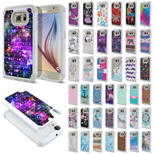 For Samsung Galaxy S6 G920 Design Bling Hybrid Hard Rubber Silicone Case Cover