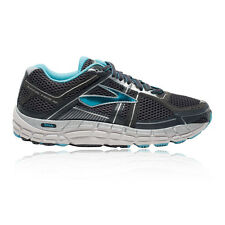 Brooks Addiction 12 Womens Blue Black Support Running Shoes Trainers D Width
