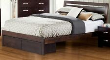 Tana SINGLE DOUBLE QUEEN KING Bed Frame Timber Brown Storage Drawer