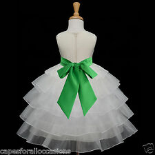 IVORY WEDDING FLOWER GIRL DRESS LIME MERCURY OASIS PERSIMMON 12-18M 2 4 5 6 8 10