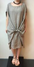 LAGENLOOK TWIST LINEN DRESS QUIKRY BOHO LAYERING OSFA BAGGY MADE IN ITALY 10-18