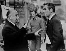 Hitchcock Alfred in Suit and Tie Talking to a Man High Quality Photo
