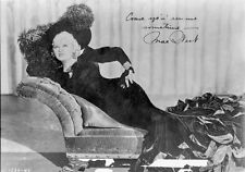 Mae West Signature Portrait in Black and White High Quality Photo
