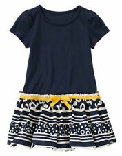 NWT Gymboree Blue Bubble Stripes Dress Cape Cod Cutie Dress SZ 7,8 Girls
