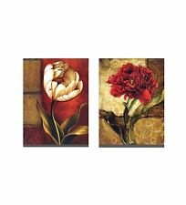 Modern Abstract Wall Art Oil Painting on Canvas Frame Flower Big Size 2pc