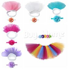 Newborn Baby Girl Flower Lovely Tutu Skirt Costume Photography Photo Prop Outfit