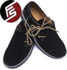 Oktoberfest German Lederhosen Bavarian Trachten Traditional black Leather shoes